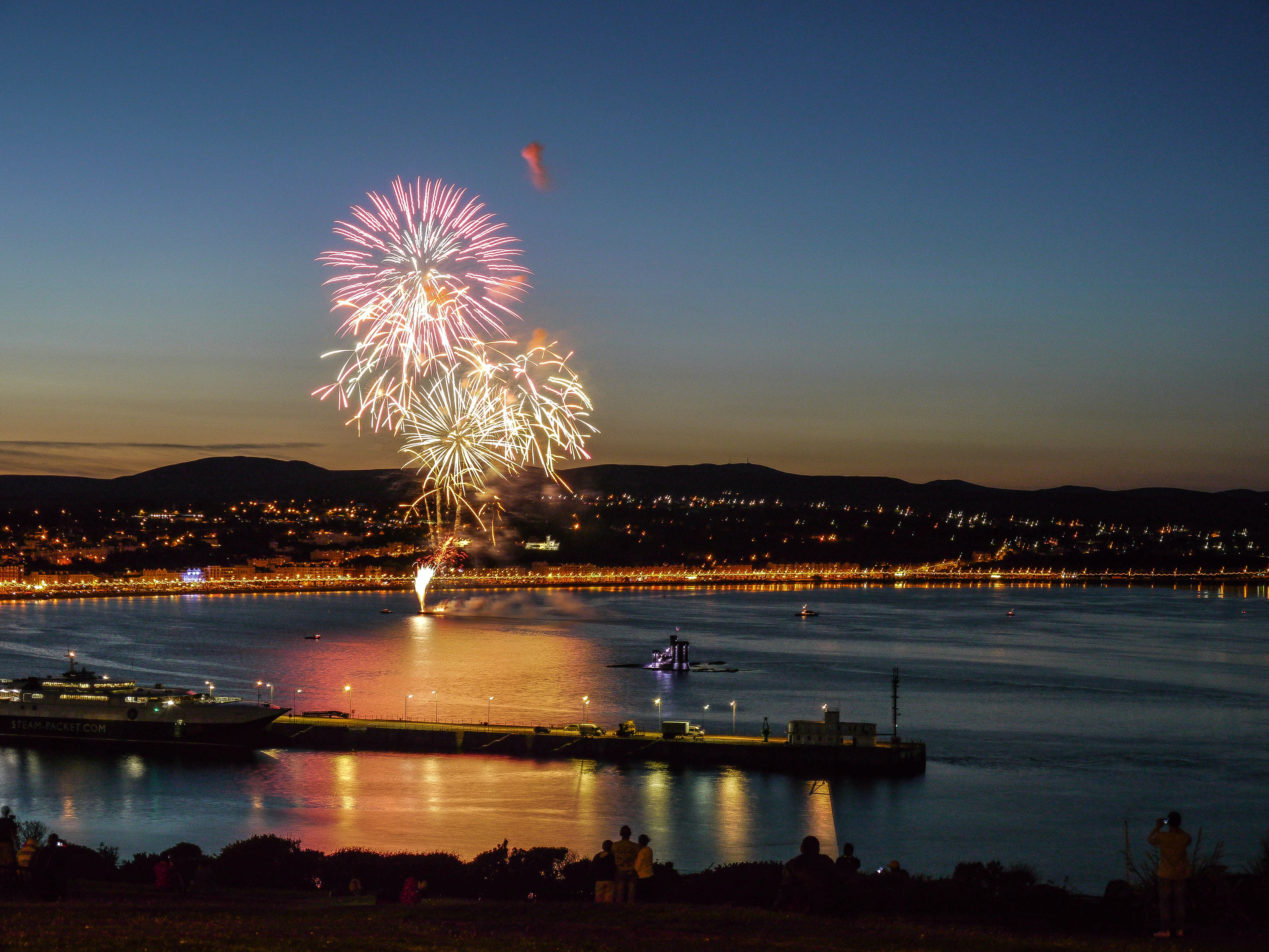 fireworks over douglas in the Isle of Man