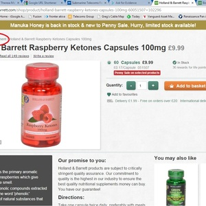 "This shows that page from their website with these capsules in the ""weigh management"" section. Note that nothing in the description of the product itself makes a claim about weight management but they have placed it into this category and many of the ""reviews"" report its wonderful weight management results. Similarly ALL of Holland & Barrett's products are categorised without the details"